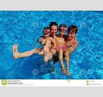 Family Pool Fun Stock Image Image Of Preteen Person