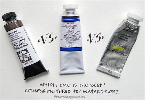 comparing 3 top watercolor brands scratchmade journal