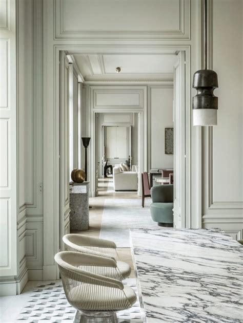 refined  contemporary home  paris  joseph dirand