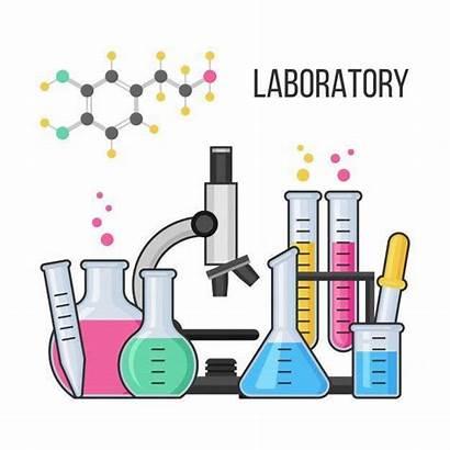 Chemistry Lab Science Equipment Laboratory Cartoon Laboratorio