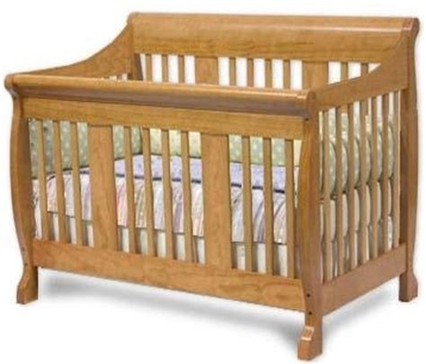 convertible sleigh style crib woodworking plans design cncr