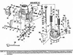 Craftsman 315268350 Router Parts