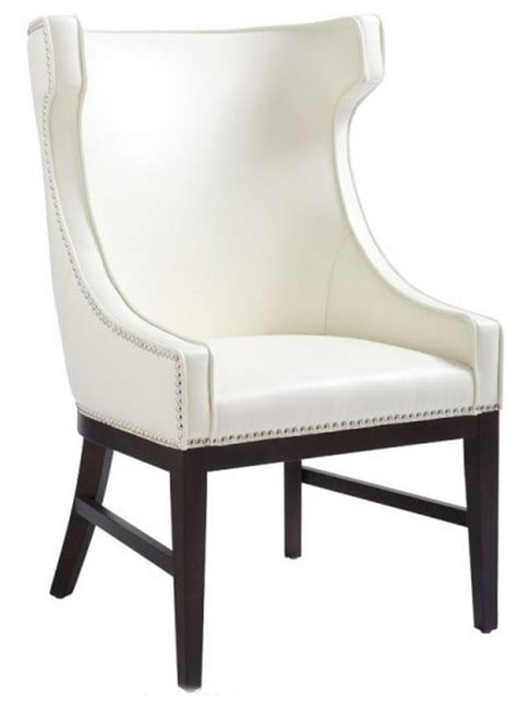 sr 30406 wing back leather dining chair