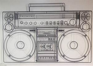 Boombox Drawing | www.pixshark.com - Images Galleries With ...