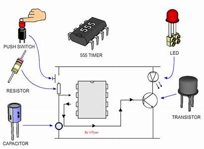 Circuit 555 Switch Integrated Led Second Twenty