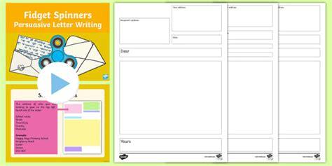 ks fidget spinners persuasive letter writing activity pack