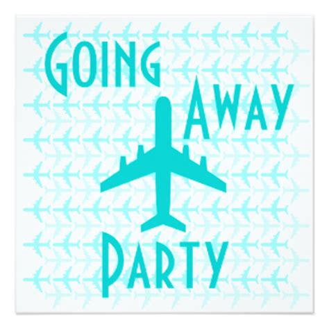 Going Away Party Invitations & Announcements Zazzle