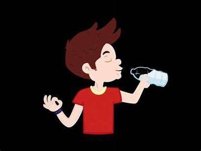 Drinking Water Boy Dribbble