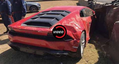 crashed lamborghini huracan lamborghini huracan crashes at the south african festival