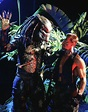 KEVIN PETER HALL and ARNOLD SCHWARZENEGGER in PREDATOR ...