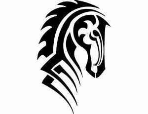 Large Tribal Horse Head Tattoo Tabatha - Free Download ...