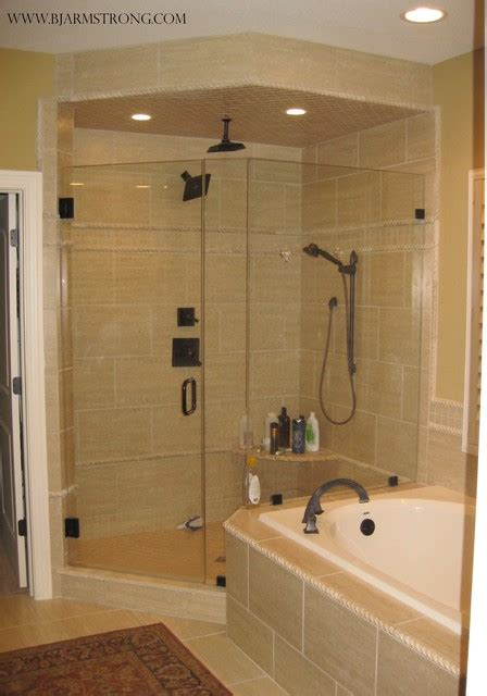 custom rain shower traditional bathroom chicago