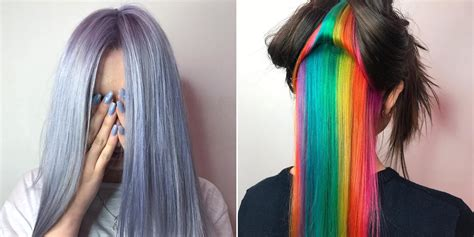 4 Rainbow Hair Color Trends You Need To Know For 2017 Allure