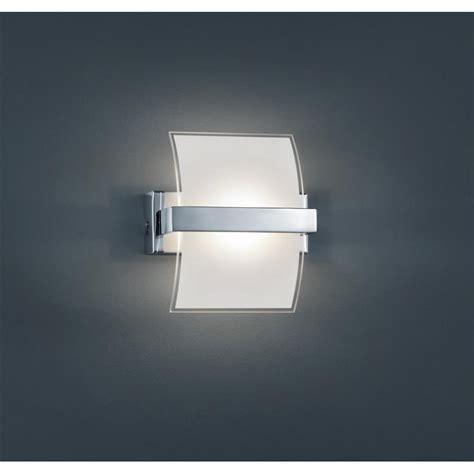 Trio LED Wandleuchte ink.1x5W COB LED/ Glas innen weiss