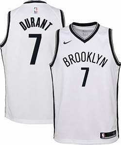 Nike Youth Brooklyn Nets Kevin Durant 7 White Dri Fit