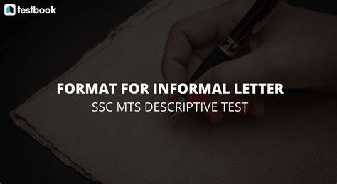 informal letter format writing style ssc mts
