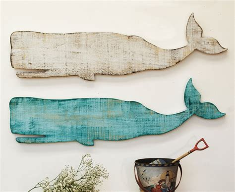 wooden whale wall plaque style home decor york by suzanne nicoll studio