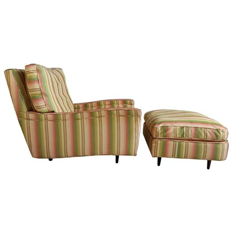 oversized deco streamline lounge chair and ottoman for