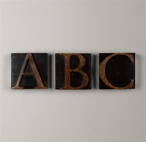 wood block letters wooden block letter