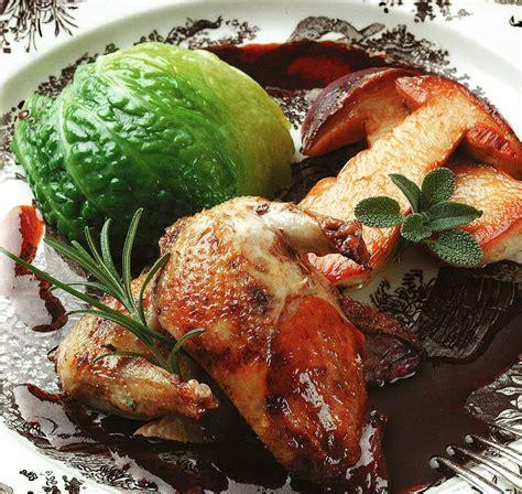cuisiner du sanglier la recette du jeudi perdreaux rôtis au four chou farci