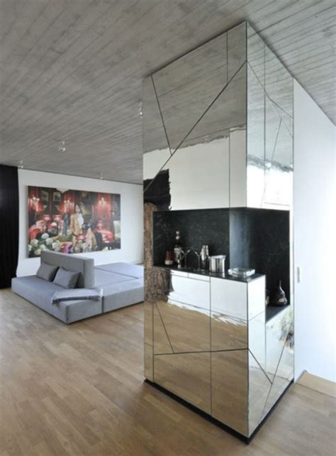 futuristic penthouse  mirror walls digsdigs