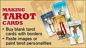 print your own cards simple diy instructions on how to make your own tarot cards