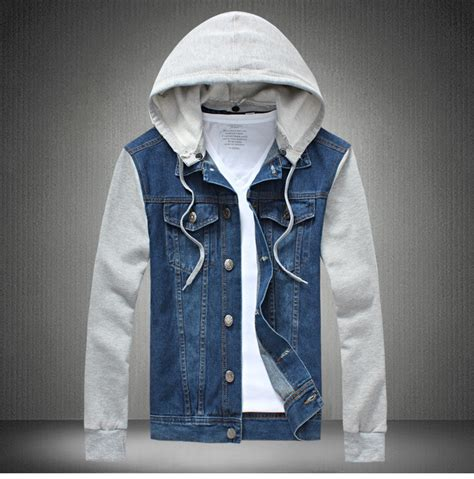 Jean Jacket With Hoodie For Men | Jackets Review