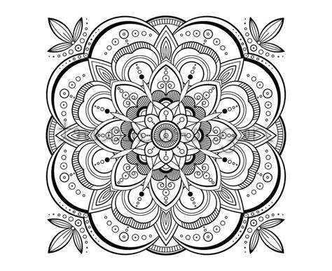 printable adult coloring book page  mandala coloring