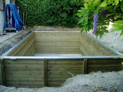 piscine bois semi enterr 233 e 5x3