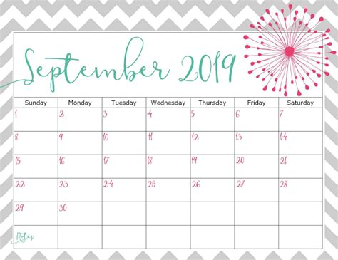 cute september  calendar design net market
