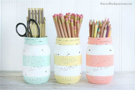 Glass Candle Holders Diy Perserving Jar Satine Paint by Inspired Striped Jars The Crafted Sparrow