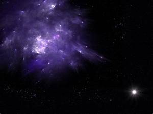 Outer space lights stars galaxies purple nebulae Planet ...