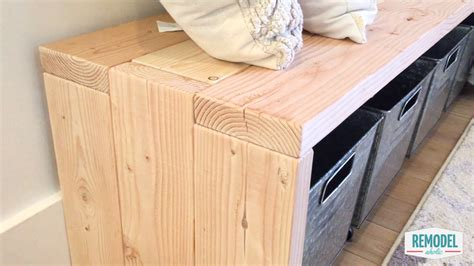 remodelaholic diy  bench modern waterfall bench tutorial
