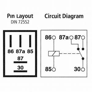 Micro Relay 5-pin  Changeover  12v 20a