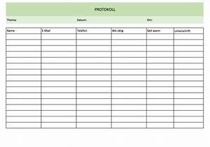 Schon einfache excel vorlage bilder entry level resume for Protokoll vorlage excel
