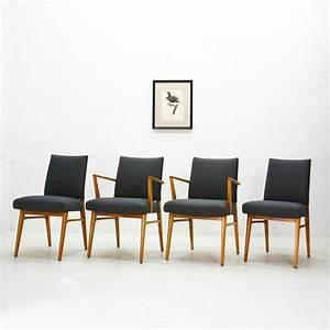 chaises de salle a manger en merisier 1950s set de 4 en With salle a manger 1950