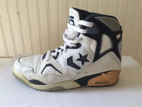 vintage mens white converse cons basketball shoes