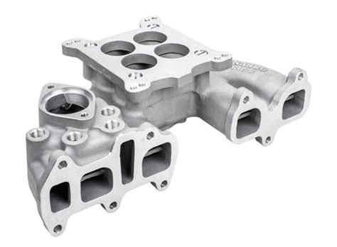 offenhauser performance downdraft intake manifold 22r holley carb 4 barrel