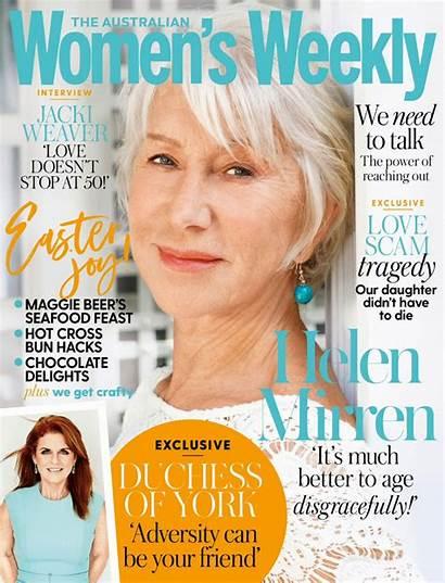 Weekly Australian April Helen Mirren Issue Womens