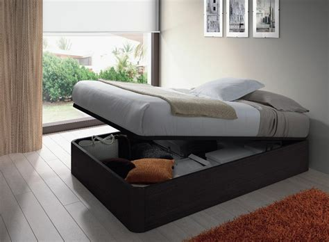 Storage Bed No Headboard alonza 4ft6 lift up 3d textured black oak ottoman storage