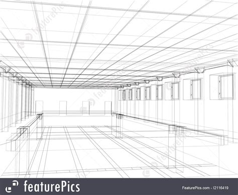 design house plans picture of 3d sketch of an interior of a building