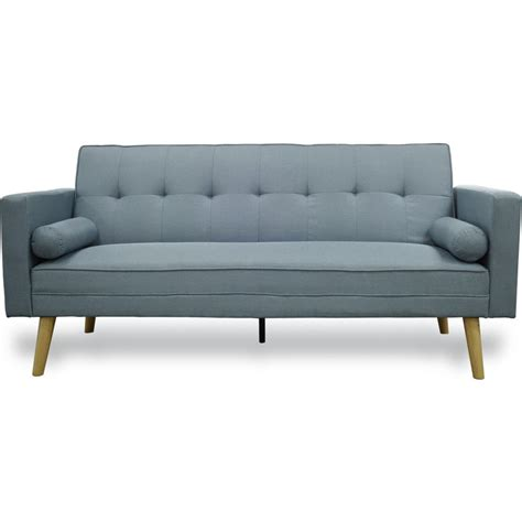 click clack bed settee click clack fabric sofa bed with 2 pillows blue buy