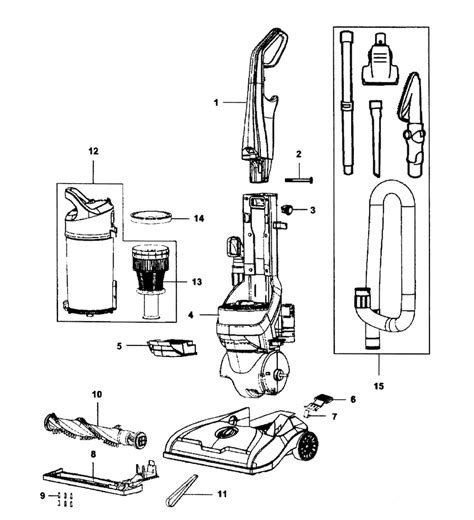 hoover vaccum parts hoover windtunnel t series parts diagram automotive