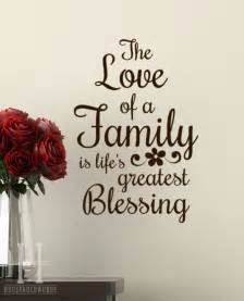vinyl wall decal words the of a family is 39 s greatest blessing family room home decor