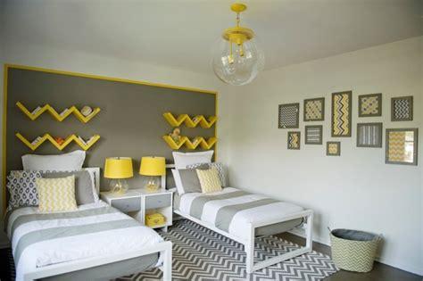 chambre jaune et gris deco chambre ado gris et jaune visuel 8