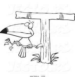 Cartoon Toucan Coloring Pages