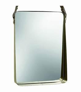 Miroir Doré Rectangulaire : miroir rectangulaire suspendu en m tal dor hauteur 55cm ~ Teatrodelosmanantiales.com Idées de Décoration