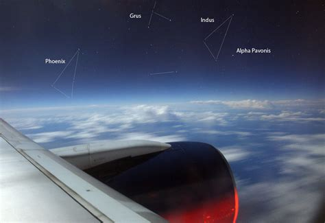 Astronomy From An Airplane Window En Route To Tropical