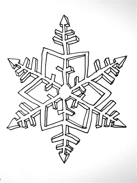 snowflake drawing   clip art  clip