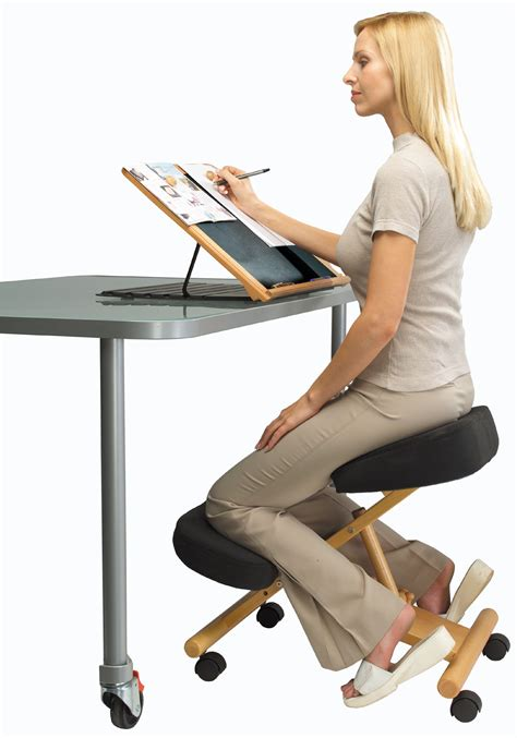 best desk chair for good posture putnams posture chair kneeling for office and home new ebay